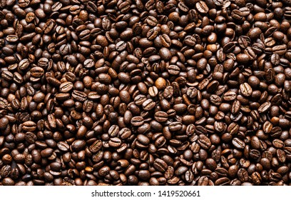 fresh coffee beans brown seed texture background full wallpaper