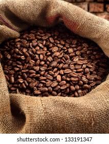 fresh coffee and sack