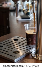 fresh cold brew coffee from the tap,barista make from roasted bean coffee