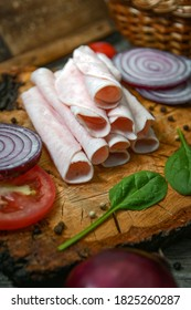 fresh cold cuts still life with ham