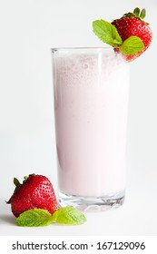 Fresh, cool , milk strawberry cocktail for all