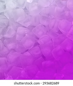 fresh cool pink ice cube background