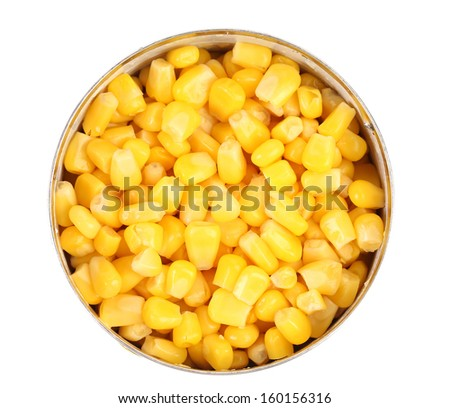 fresh corn can isolated on white stock photo edit now 160156316
