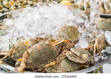 Fresh Crabs in the market Thialand