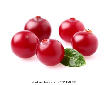 Fresh cranberry with leaf