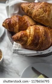 Fresh croissant for breakfast, french breakfast