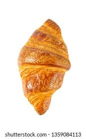 fresh croissant isolated on white
