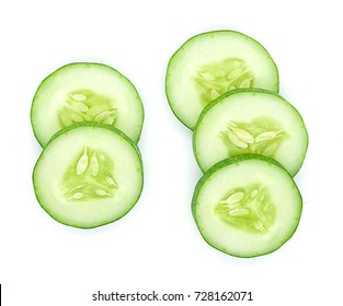 Fresh cucumber, isolated on white background