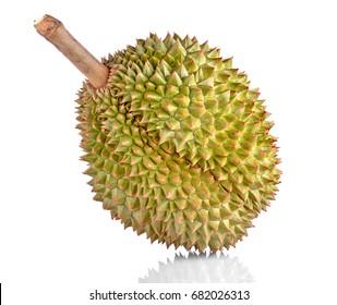 Fresh Cut Kanyao Durian on white background