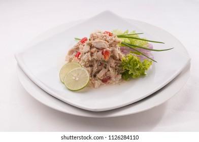 fresh and delicious dish of fish ceviche