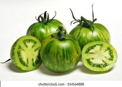 fresh and delicious green zebra tomato