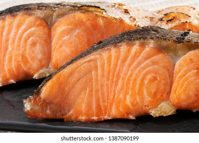 Fresh and delicious grilled salmon