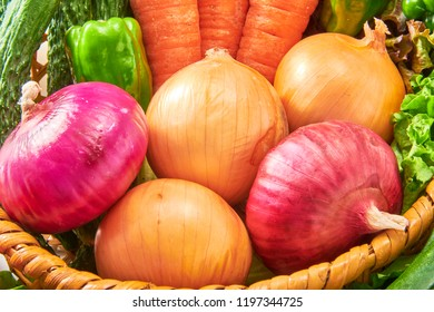 Fresh and delicious onion