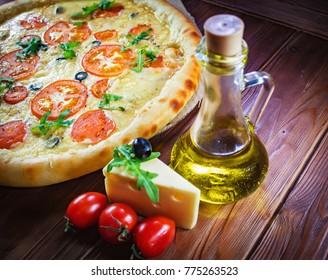 Fresh delicious pizza