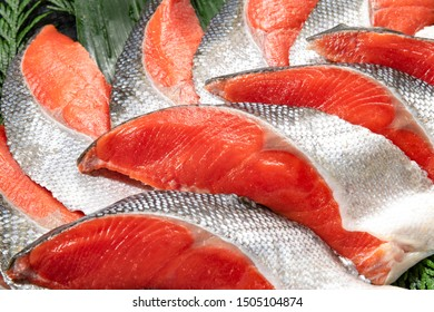 Fresh and delicious salmon fillets