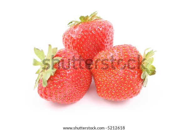 fresh and delicious strawberries isolated on white