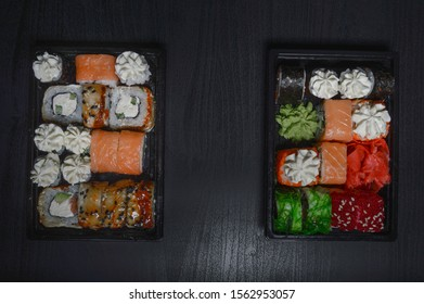 Fresh and delicious sushi of bright ingredients that you want to order and eat every day