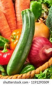 Fresh and delicious zucchini