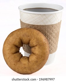 Fresh Donut and coffee for breakfast