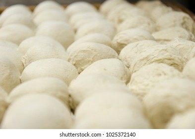 Fresh dough balls resting