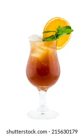 Fresh drink cocktail on white background isolation with clipping path
