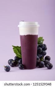 Fresh drink, grape milk cover