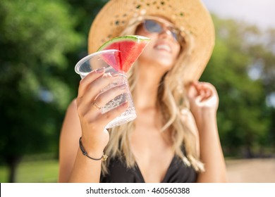 Fresh drink with watermelon
