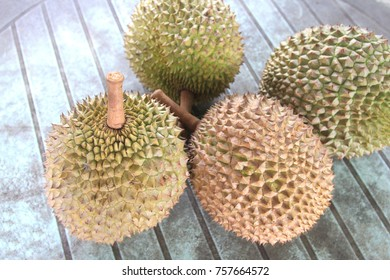 Fresh durian. King of fruit From the garden