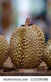 fresh durian  in market
