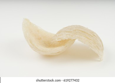 Fresh edible bird's nest on white paper