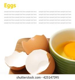 fresh egg isolated on white background. fresh eggs. hen eggs. chicken eggs. eggs ingredient - Shutterstock ID 425147395