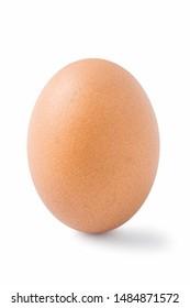 Fresh eggs isolated on white backgrounds