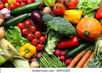 fresh farm vegetables