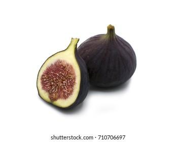 Fresh Fig fruit cut in half
