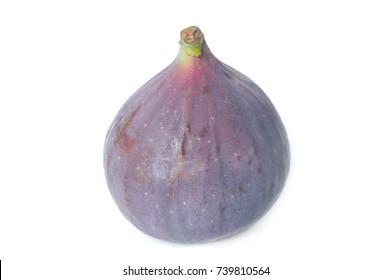 Fresh Fig Fruit Isolated on White Background