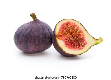 Fresh fig, isolated on white background.