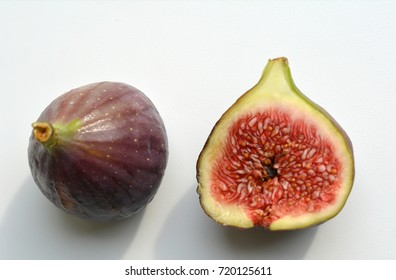 fresh fig white background