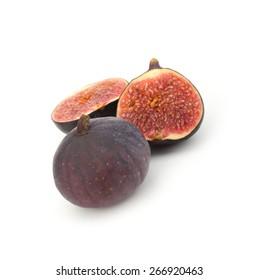Fresh figs Fruits isolated on white background