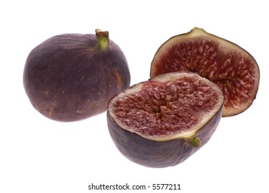 fresh figs. fruits isolated on the white background