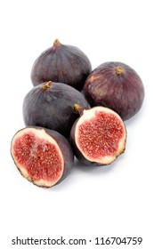 Fresh figs isolated on a white background.