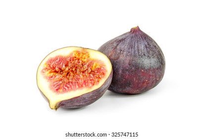 fresh figs isolated on a white cutout