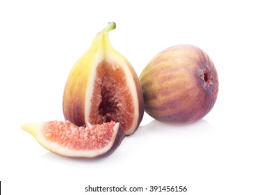 fresh figs on a white background.