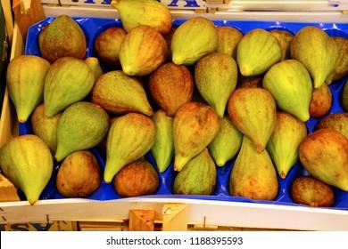 Fresh figs at an outdoor market in Bolzano, Italy