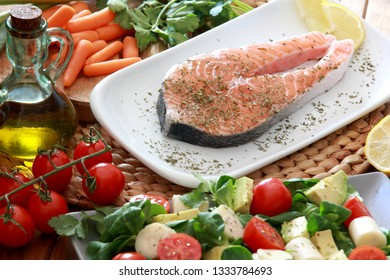 Fresh Fillet of Salmon with Salad