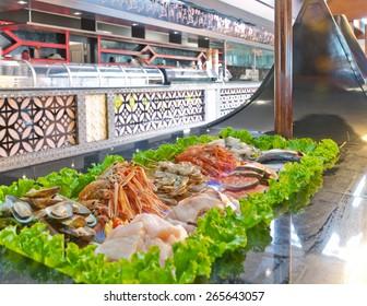 Fresh fish at the Asian restaurant