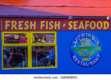Fresh Fish Seafood street sale in Dingle - KERRY / IRELAND - MAY 6, 2018