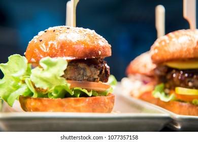 Fresh flame grilled mini burger