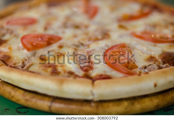 fresh flavorful pizza with seafood