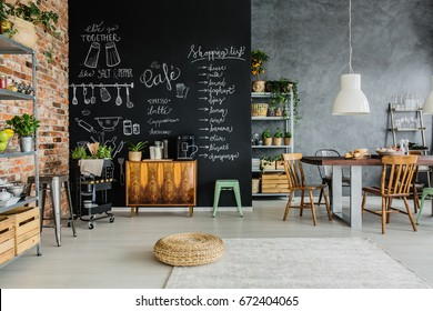 Fresh food and herbs in the kitchen