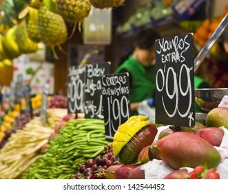 Fresh food market, Barcelona.